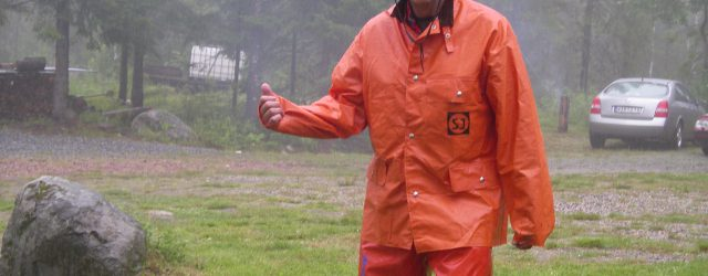 Vi prickade in sommarens regnigaste dag. Men vi som var där hade det trevligt. Det finns inget dåligt väder, bara dåliga kläder.